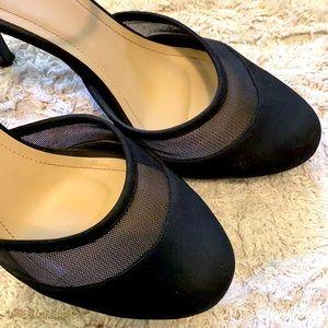 Vincci black round toe heel with ankle strap